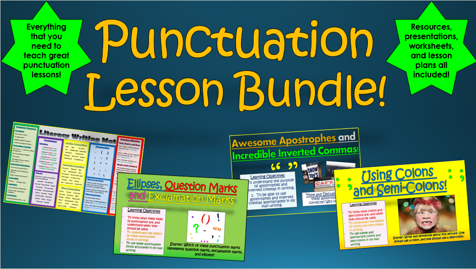 Punctuation Lesson Bundle!