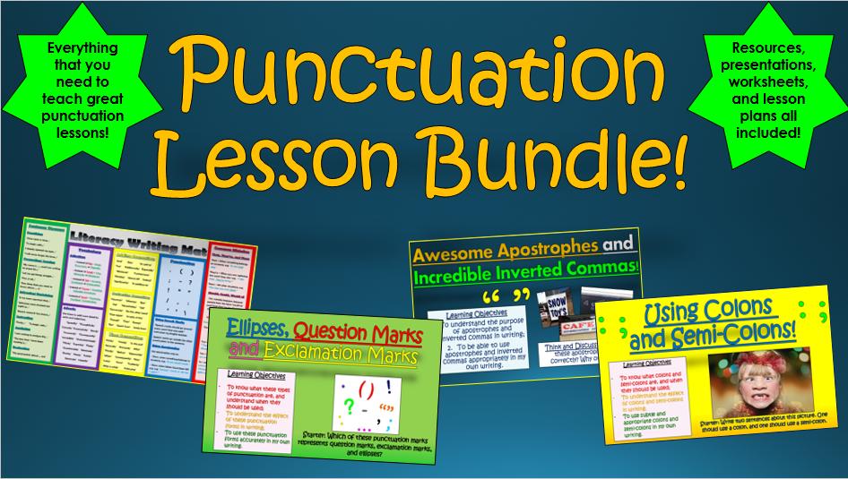 Punctuation Lesson Bundle!