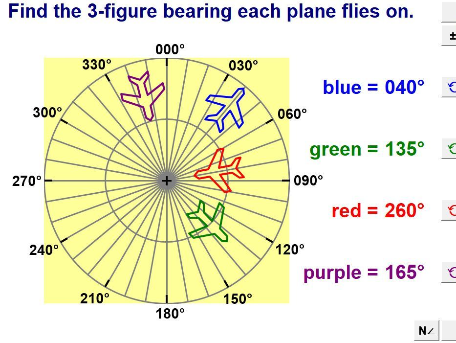 Bearings And Distances Between Points