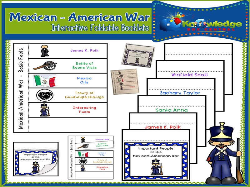 Mexican American War Interactive Foldable Booklets