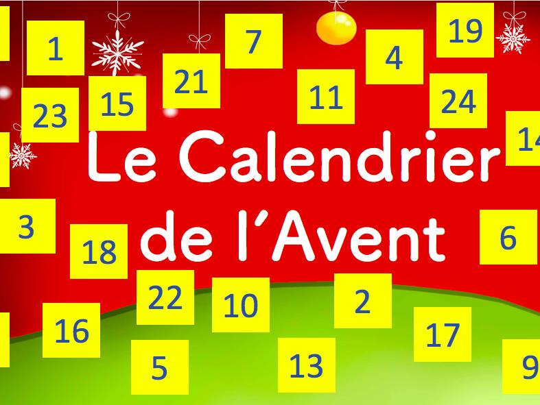 French- Questionnaire/ Compréhension sur les Origines du Calendrier de l'Avent