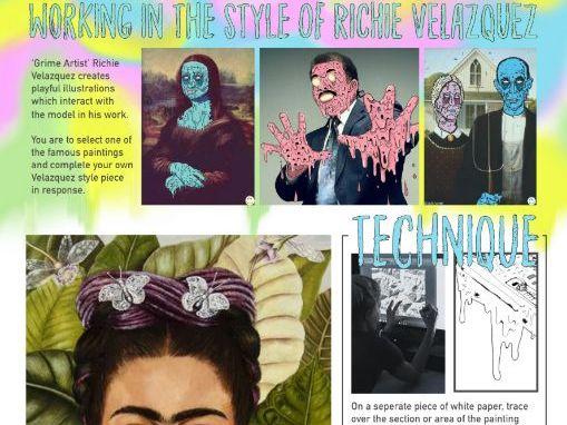 Art & Design Cover Lesson - Grime Art