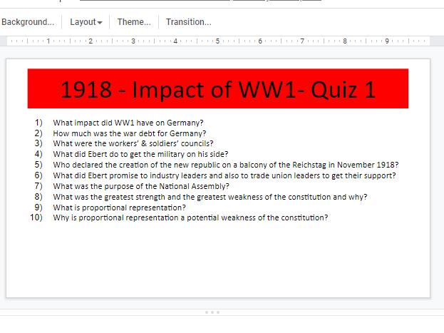 GCSE HISTORY Germany 1918-1939 Revision Quizzes Booklet for Teachers & Students