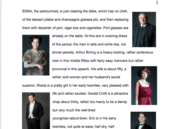 An Inspector Calls - Dyslexia friendly modified text