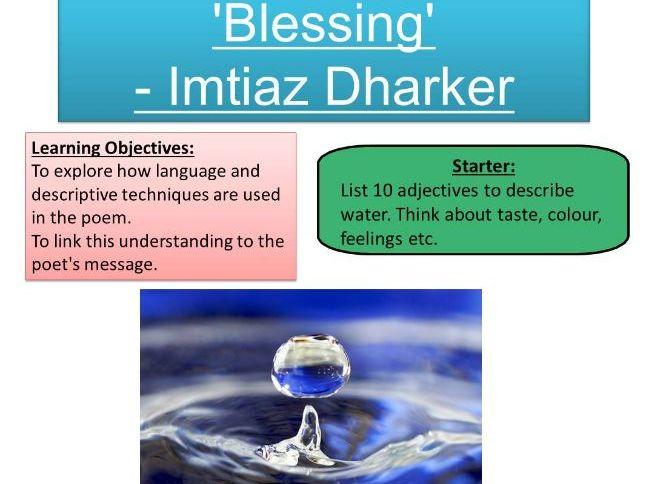'Blessing' - Imtiaz Dharker