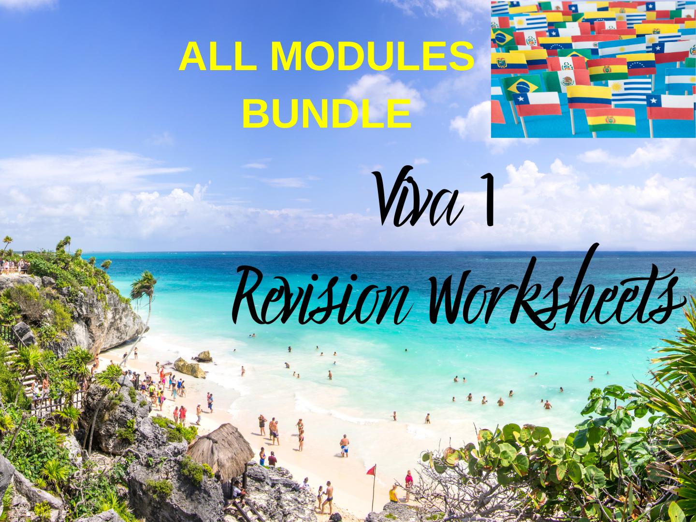 Spanish Viva 1 Worksheets All Modules