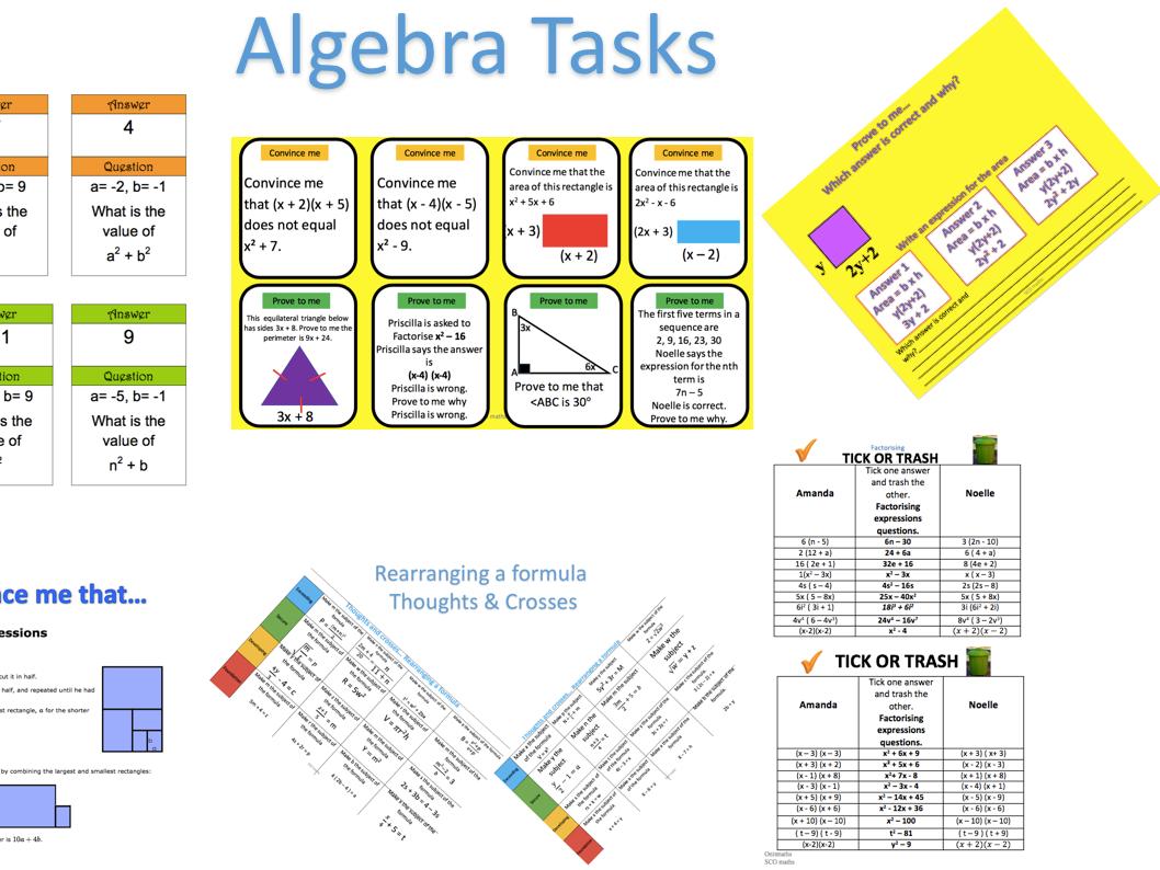 Algebra Tasks KS3/KS4