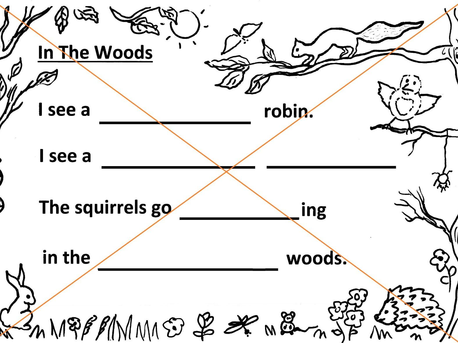 Woodland Poetry Writing Sheets - 3 grades