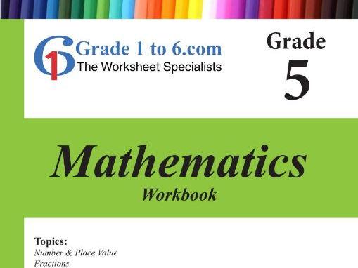 Grade 5 Maths Workbook from www.Grade1to6.com Books