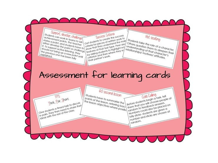 Assessment for learning cards (AfL)