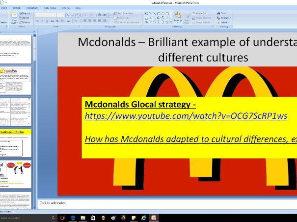 Cultural differences - A level Business / Economics