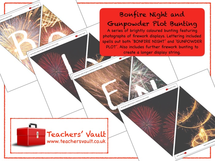 Bonfire Night and Gunpowder Plot Bunting