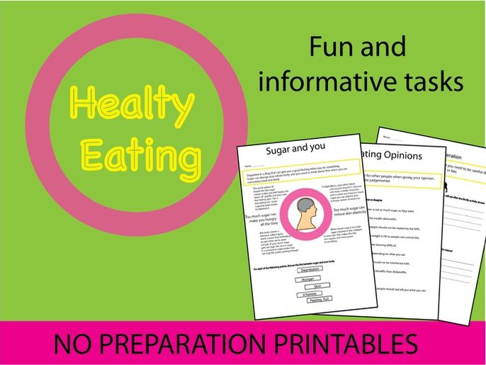 Healthy Eating lesson pack- PSHE and Food - with no planning!