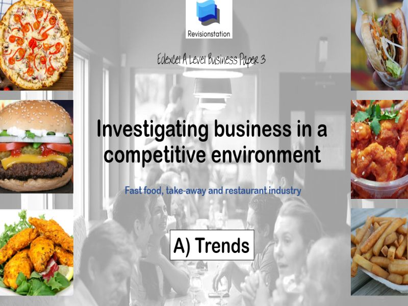 Edexcel A Level Business Paper 3 (2021) teaching resources pack  TRENDS