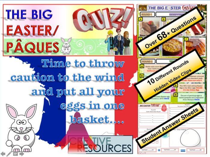 French MFL Easter Quiz 2020