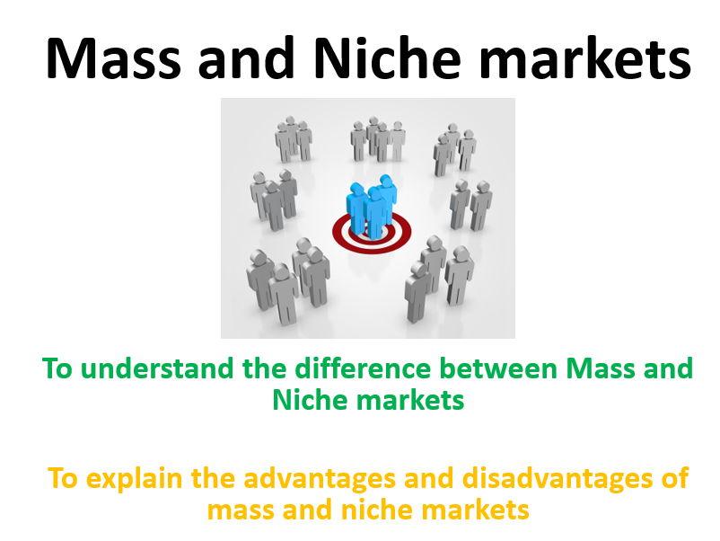 Mass and Niche markets - Edexcel A Level Business Theme 1