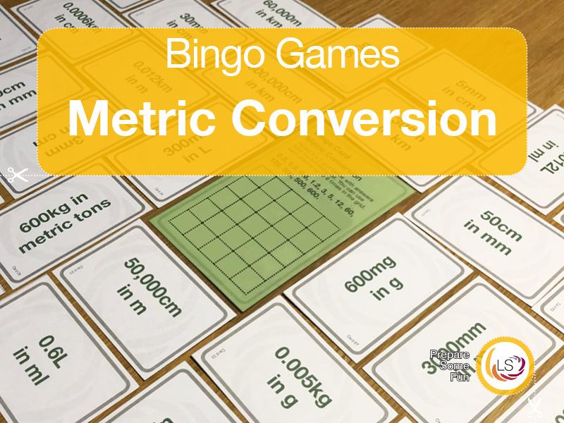 Metric Conversion | Bingo Game