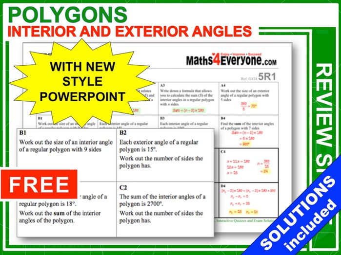 Angles in Polygons (GCSE 9-1 Revision)