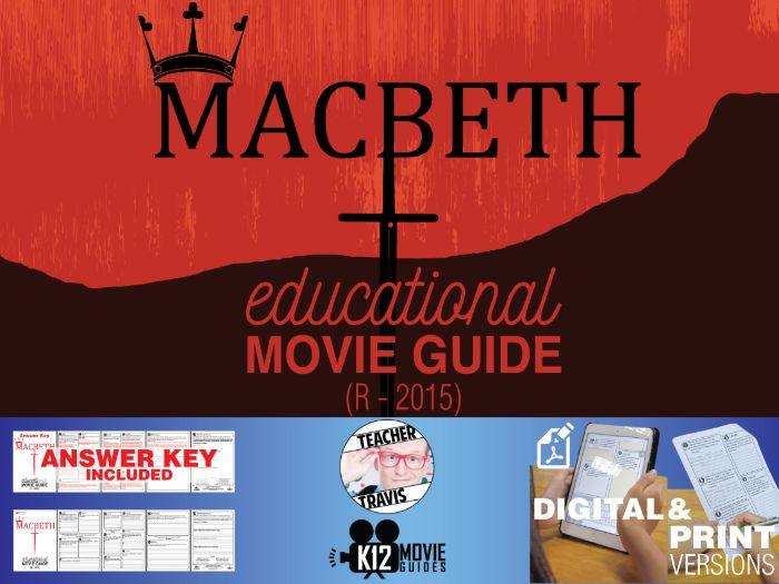 Macbeth Movie Guide | Questions | Worksheet (R - 2015)