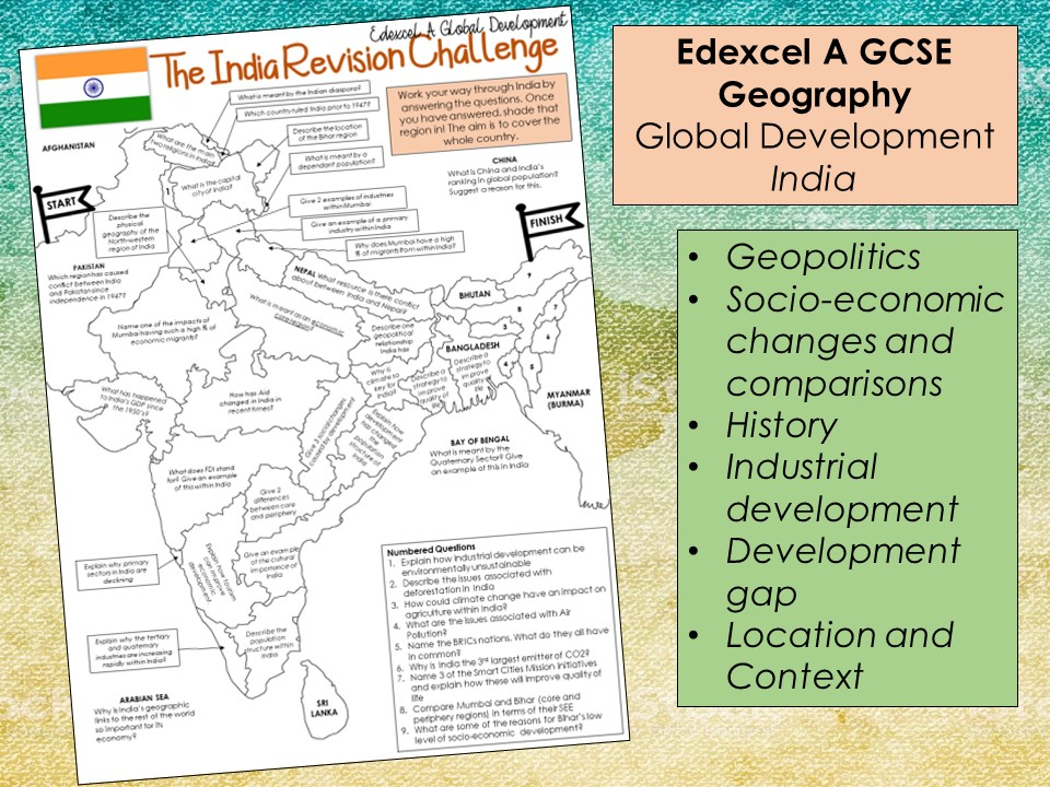 India Revision Sheet (Edexcel A)