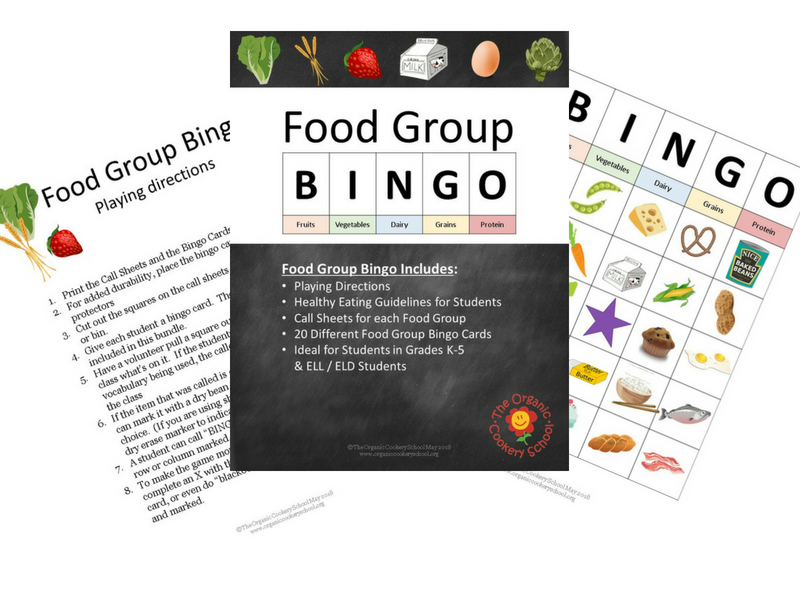 FOOD GROUP BINGO (US version)