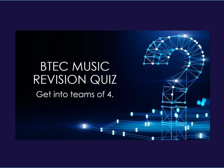 BTEC Music Unit 1 Revision Quiz