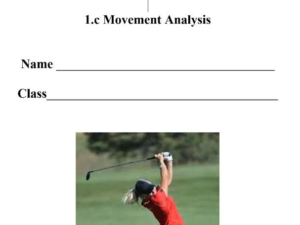 New OCR GCSE PE 9-1. 1.C Movement Analysis/Lever Systems. Pupil Workbook & Answer Booklet.