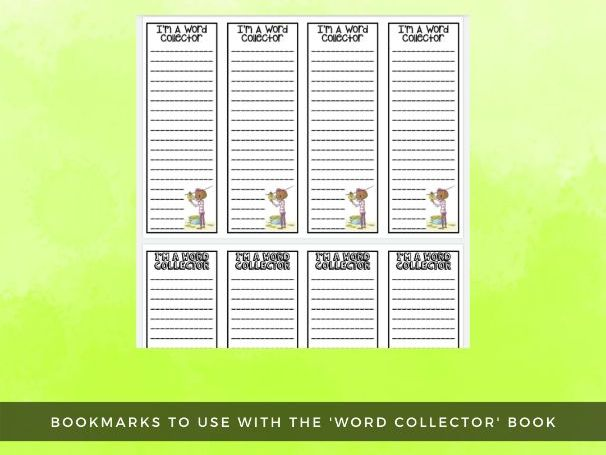 Word Collector Bookmarks