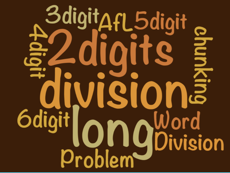UKS2 (Year 5 and Year 6) to use formal written methods of  long division