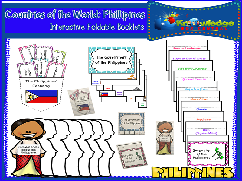 Countries of the World: Philippines Interactive Foldable Booklets
