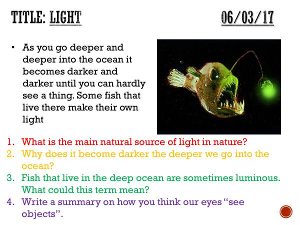 Light - complete lesson (KS3)