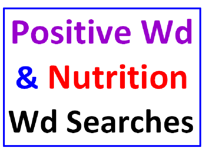 Positive Words Word Search Puzzle PLUS Nutrition Word Search (2 Puzzles)