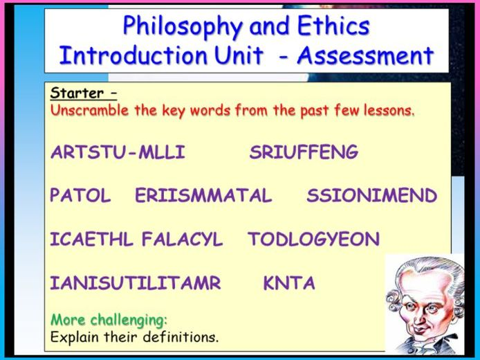 Philosophy and Ethics Assessment