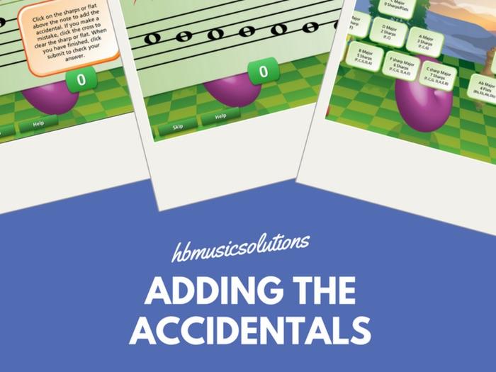 Adding The Accidentals - Major Keys, Treble Clef  Music Interactive Module