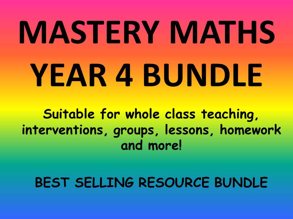 YEAR 4 MASTERY MATHS BUNDLE