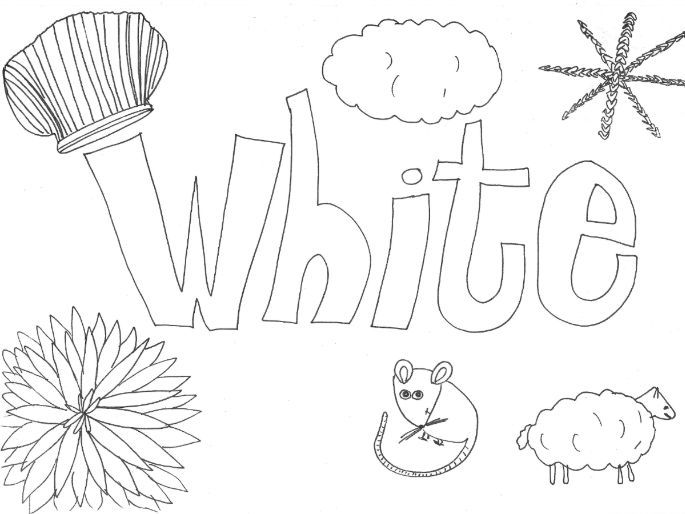 White: Colours: Colouring Sheet