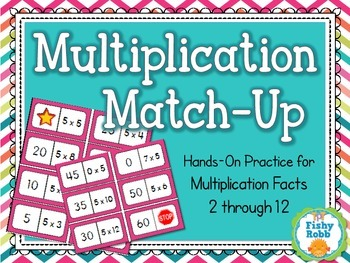 Multiplication Match-Up Maths Facts Activity