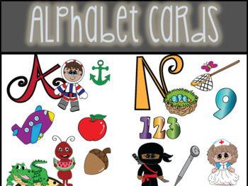Alphabet Cards Clip Art