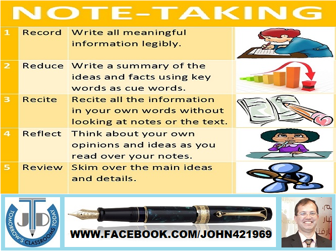 NOTE-TAKING LESSON AND RESOURCES