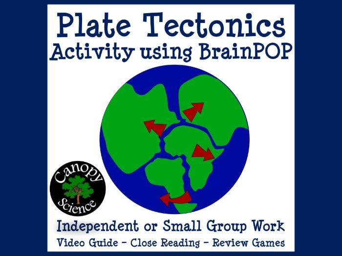 Plate Tectonics Activity using BrainPOP