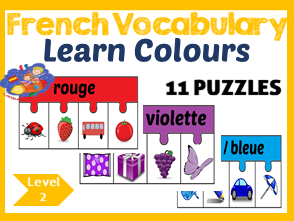 French colour jigsaws - les couleurs - French immersion!
