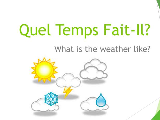 French Weather Basics