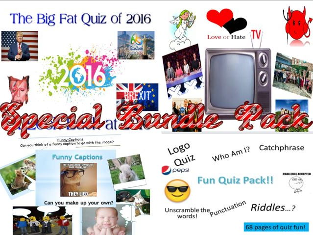 Special Bundle Pack of Quizzes and a TV Writing Lesson