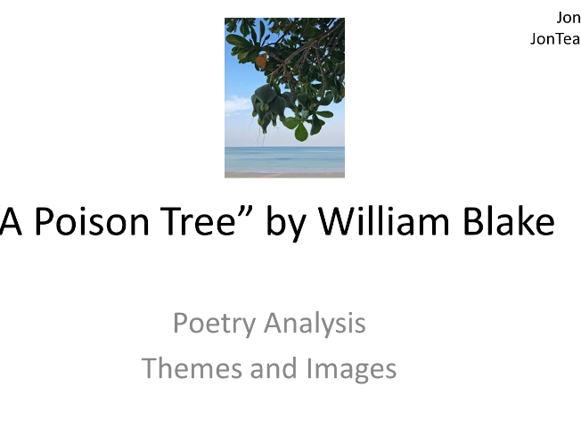 "Unseen Poetry Analysis for English GCSE ""The Poison Tree"" by William Blake Themes and Images"