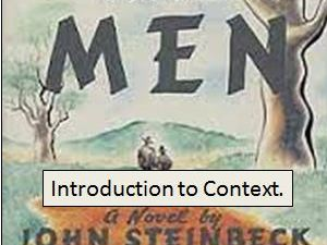 Of Mice and Men: Context