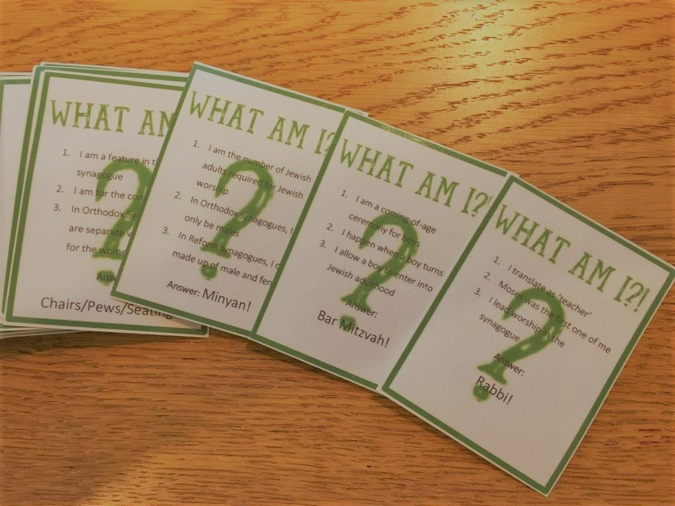 Judaism 'What Am I?!' Game: Quiz for Jewish Beliefs, Teachings and Practices