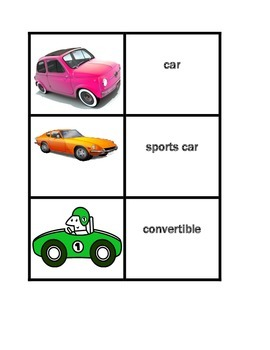 Vehicles in English Concentration games