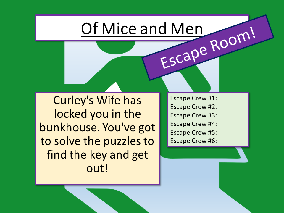 Of Mice and Men - Of Mice and Men Escape Room
