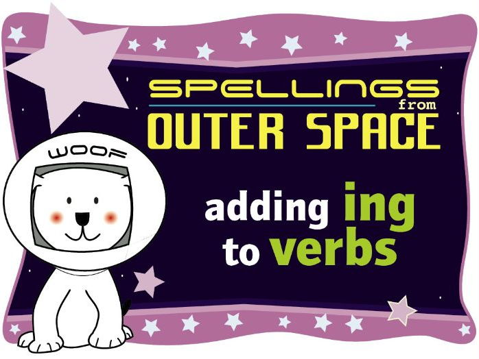 Year 1 Spellings from Outer Space: Adding ING to verbs