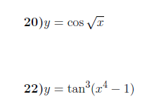 Derivatives of trigonometric functions worksheet no 2 (with solutions)